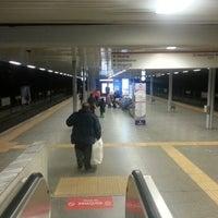 Photo taken at Yenibosna Metro İstasyonu by Cemre Ç. on 12/28/2012