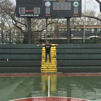 Photo taken at Rucker Park Basketball Courts by Sonia M. on 3/25/2016