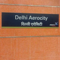 Photo taken at Delhi Aerocity Metro Station by Noor I. on 5/8/2013