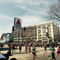 Photo taken at Kenmore Square by Kevin V. on 4/18/2016
