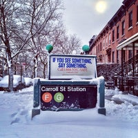 Photo taken at MTA Subway - Carroll St (F/G) by christian svanes k. on 2/9/2013