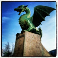 Photo taken at Zmajski most / Dragon Bridge by Fernanda S. on 1/11/2013