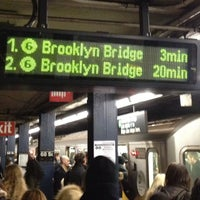 Photo taken at MTA Subway - 68th St/Hunter College (6) by Jeffrey P. on 2/5/2013