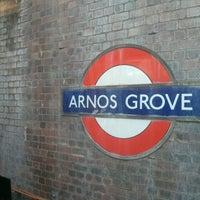 Photo taken at Arnos Grove London Underground Station by Alokenanda L. on 6/1/2013