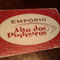 Photo taken at Empório Alto dos Pinheiros by ana augusta l. on 1/26/2013