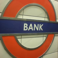 Photo taken at Bank London Underground and DLR Station by Simone P. on 2/25/2013