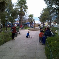 Photo taken at Plaza de Armas Alhué by Victor G. on 9/4/2013