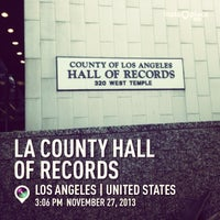 Photo taken at Los Angeles County Hall of Records by Tolitz R. on 11/27/2013