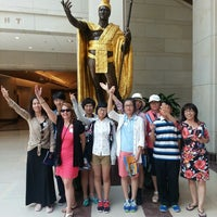 Photo taken at King Kamehameha Statue by Chad M. on 8/5/2013