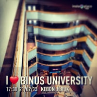Photo taken at BINUS University by Adhi Nugroho C. on 2/21/2013