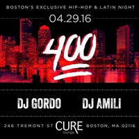 Photo taken at Cure Lounge by Gordo D. on 4/30/2016