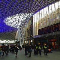 Photo taken at London King's Cross Railway Station (KGX) by Aung Ko M. on 2/16/2013