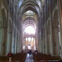 Photo taken at Cathédrale Notre-Dame de Coutances by claudio l. on 8/9/2013