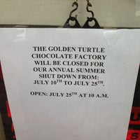 Photo taken at Golden Turtle Chocolate Factory by Joe G. on 7/20/2013