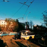 Photo taken at Остановка «Калужская площадь» by Yegor S. on 4/24/2014