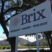 Photo taken at Brix Restaurant and Gardens by Checo B. on 9/15/2012