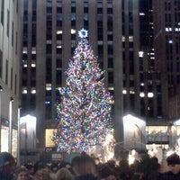 Photo taken at Rockefeller Center Christmas Tree by David K. on 12/23/2012
