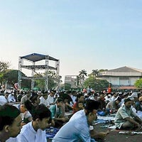 Photo taken at GOR Sang Bumi Ruwa Jurai (Saburai) by Umay S. on 9/24/2015