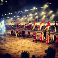 Photo taken at Medieval Times Dinner & Tournament by Sarah I. on 1/16/2013
