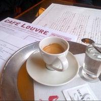 Photo taken at Café Louvre by Vaclav L. on 2/11/2013