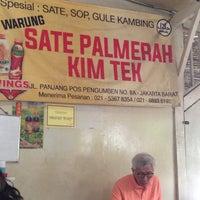 Photo taken at Sate Kambing Kim Tek by Fendi B. on 5/16/2016