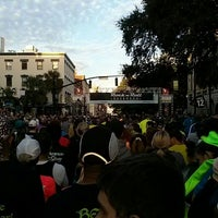 Photo taken at Rock n Roll Savannah Marathon Start by Reggie P. on 11/9/2013