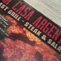 Photo taken at La Casa Argentina Fast Grill by Renča Č. on 9/29/2012