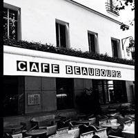Photo taken at Café Beaubourg by geoffrey d. on 9/12/2013
