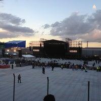 Photo taken at Estádio Passo D'Areia (Zequinha) by Carlos E. on 3/5/2013