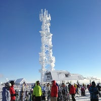Photo taken at Sommet du Mont-Tremblant Summit by Scott E. on 1/1/2013