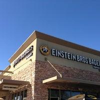 Photo taken at Einstein Bros Bagels by Brian R. on 2/16/2013