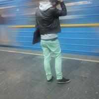 Photo taken at Pozniaky Station by Dima P. on 4/13/2013