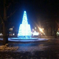 Photo taken at Jēkaba laukums (Jekaba square) by Linda K. on 12/6/2012
