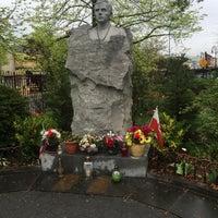 Photo taken at Father Jerzy Popiełuszko Square by Cory H. on 4/23/2016