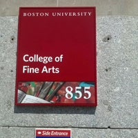 Photo taken at Boston University College of Fine Arts by Melody d. on 4/10/2012