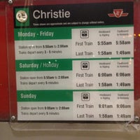 Photo taken at Christie Subway Station by Mark N. on 5/3/2013