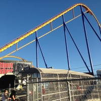 Photo taken at Backlot Stunt Coaster by Goldie☠ T. on 5/4/2013