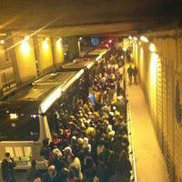 Photo taken at Zincirlikuyu Metrobüs Durağı by Sena Nur K. on 3/24/2013
