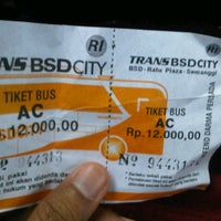 Photo taken at Terminal Feeder Busway Trans BSD by Rusi F. on 10/19/2012