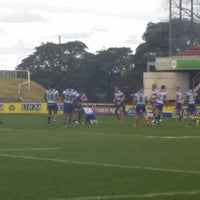 Photo taken at Brookvale Oval by Tracy A. on 8/15/2015