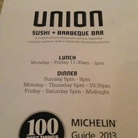 Photo taken at Union Sushi + Barbeque Bar by VODA M. on 6/5/2013