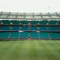 Photo taken at Itaipava Arena Fonte Nova by Carolinna A. on 4/18/2013