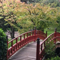 Photo taken at Jardins Albert Kahn by Anne-Catherine D. on 9/22/2012