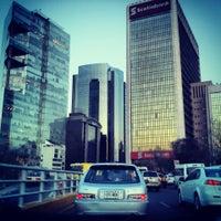 Photo taken at Av. Paseo de la Reforma by Mariano C. on 3/7/2013