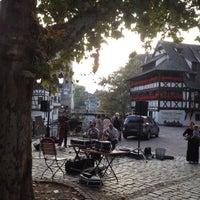 Photo taken at Place Benjamin Zix by Serdar on 9/18/2014