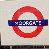 Photo taken at Moorgate Railway Station (MOG) by Takeda K. on 5/24/2013