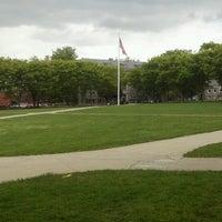 Photo taken at URI Quad by Geoffrey B. on 5/14/2013