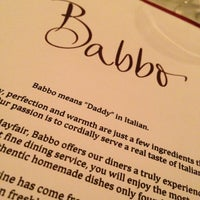 Photo taken at Babbo by Talal M. on 11/9/2012