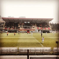 Photo taken at Stadio Velodromo Rino Mercante by Antonio F. on 3/16/2014