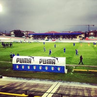Photo taken at Stadio Velodromo Rino Mercante by Antonio F. on 3/25/2013